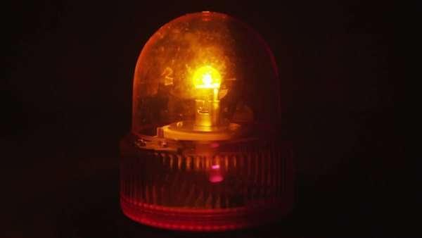 Flashing Orange Light Royalty Free Stock Video