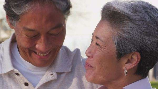 Happy senior couple, closeup Royalty-free stock video