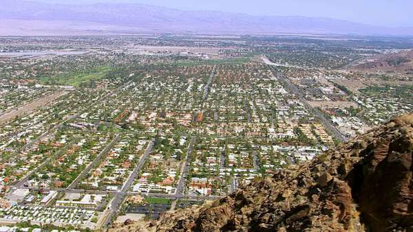 Aerial shot of Palm Springs California Royalty-free stock video