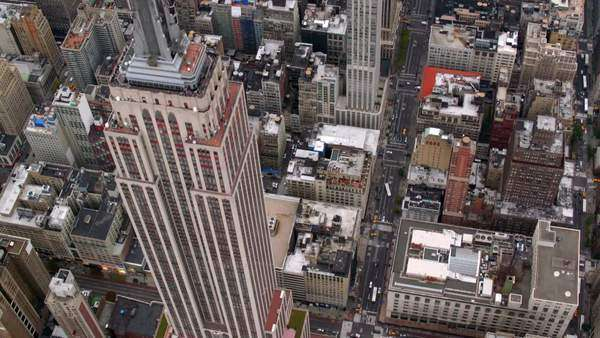 New York City, NY - October 26, 2012: Aerial shot of Empire State Building, New York City Royalty-free stock video