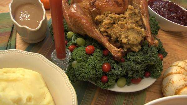 Thanksgiving turkey dinner Royalty-free stock video