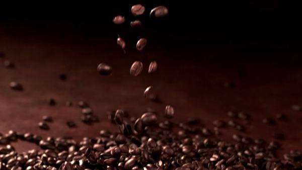 Coffee Beans falling in slow motion Royalty-free stock video