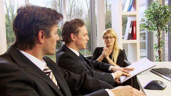 Business people in a meeting, working together Royalty-free stock video