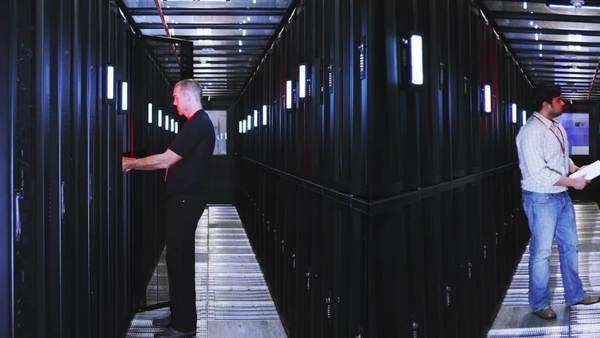 IT Technicians in data center Royalty-free stock video