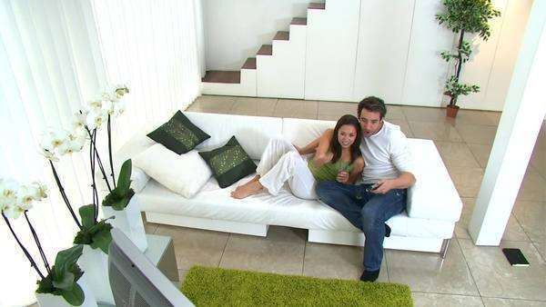 Couple spending time together at home Royalty-free stock video