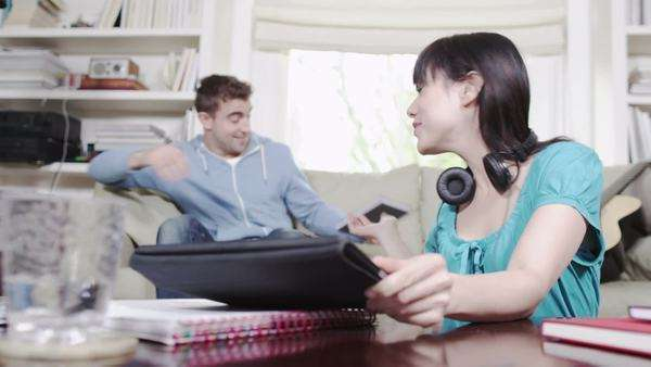 Couple with digital tablet technology Royalty-free stock video
