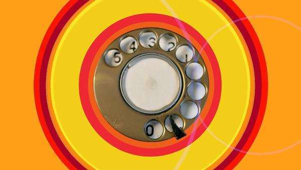 the dial of an old telephone, abstract clip Royalty-free stock video