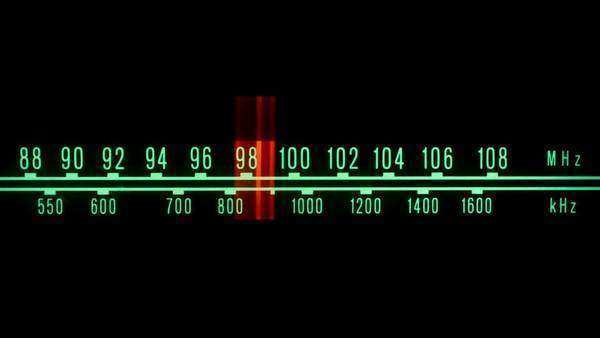 Radio with moving marker Royalty-free stock video