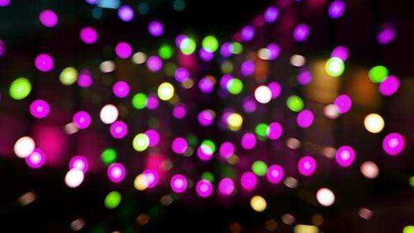 cool abstract light pattern from LEDs on the side of a large building Royalty-free stock video