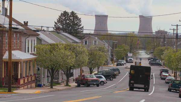 Towns in America are powered by nuclear power. Royalty-free stock video