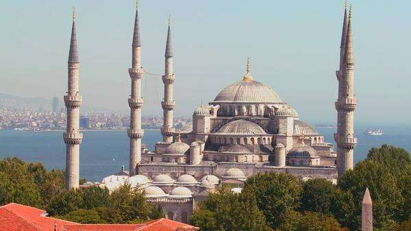 The Blue Mosque in Istanbul, Turkey. Royalty-free stock video