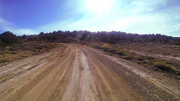 POV shot driving along a dirt road. Royalty-free stock video