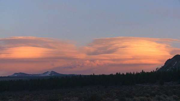 Lenticular clouds in a sunset formation. Royalty-free stock video