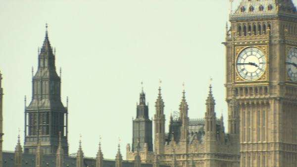 Big ben and fish decoration on lamppost Royalty-free stock video