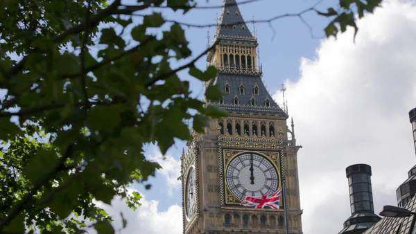 Big Ben clock tower, Westminster, London Royalty-free stock video