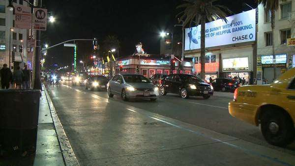 Los Angeles City Traffic at Night - Timelapse -  - Timelapse 3 of 3 Royalty-free stock video