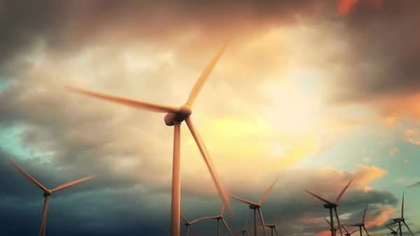 Wind energy turbines are one of the cleanest, renewable electric energy sources Royalty-free stock video