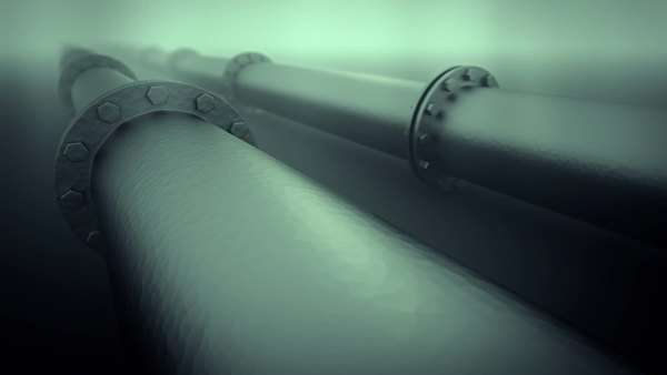 Loopable animation of pipeline transportation Royalty-free stock video