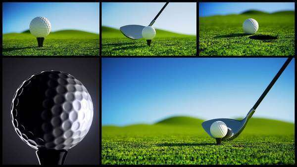 Golf montage Royalty-free stock video