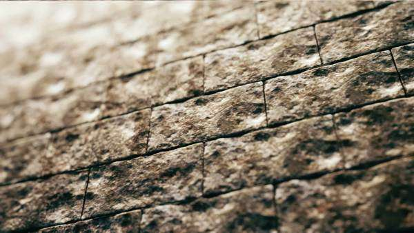 The old brick wall background animation Royalty-free stock video
