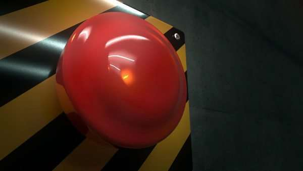 Close-up of big red button during an emergency situation Royalty-free stock video