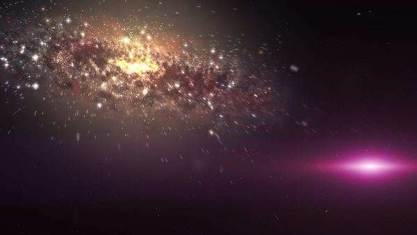 Faster than light travel between galaxies Royalty-free stock video