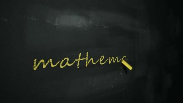 Animation of drawing word 'mathematics' on chalkboard Royalty-free stock video
