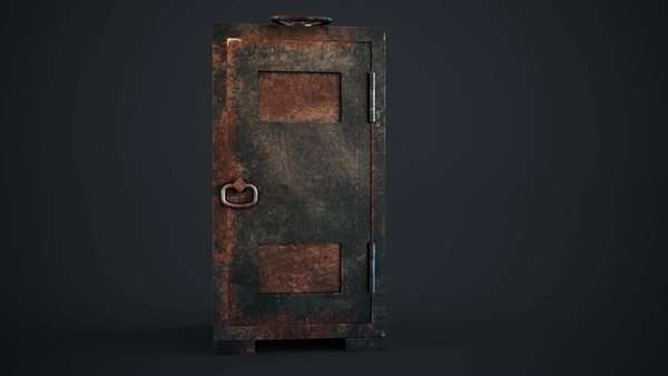 Old, rusty, steel safe with locked door in a conceptual image of finances and wealth Royalty-free stock video