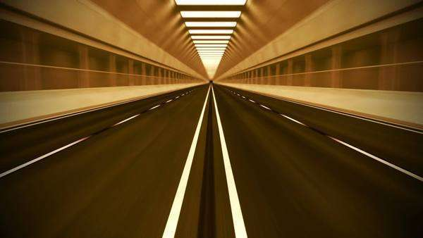 Loopable animation of an underground tunnel. May represent movement, transportaion or urban communication. Royalty-free stock video