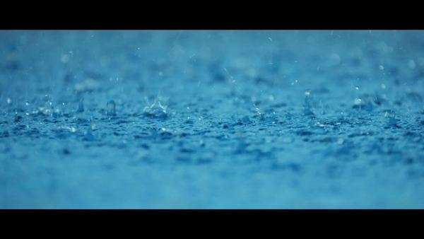 Tropical rain small balls of fresh falling water flooded surface shot on RED EPIC Royalty-free stock video