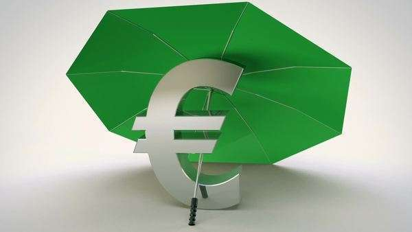 Animation Of British Pound Symbol Under An Umbrella N Stock Video