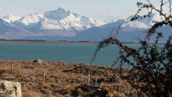Lake Argentina and the snowclad Andes in Patagonia. Royalty-free stock video