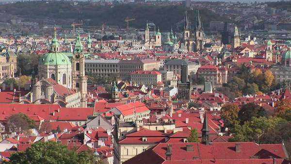 A beautiful panoramic overview of Prague, Czech Republic. Royalty-free stock video