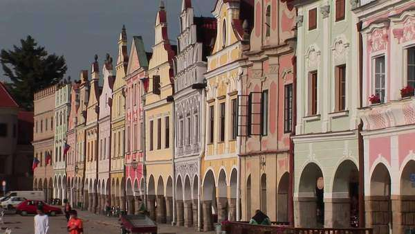 The charming town of Mikulov in the Czech Republic has elegant and beautiful facades. Royalty-free stock video