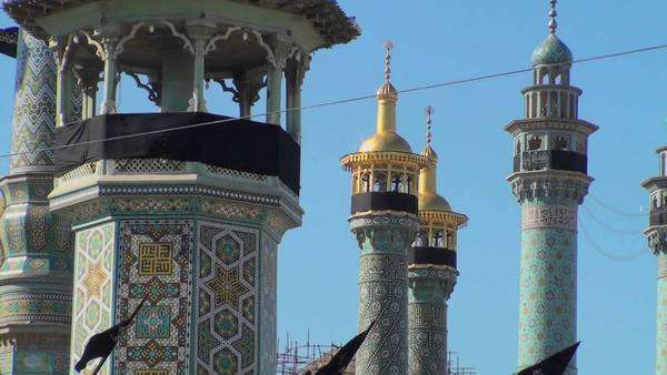 Traditional Islamic spires in a building in Iran. Royalty-free stock video
