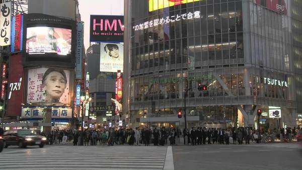 Timelapse of rush hour in Shibuya Tokyo Japan Royalty-free stock video