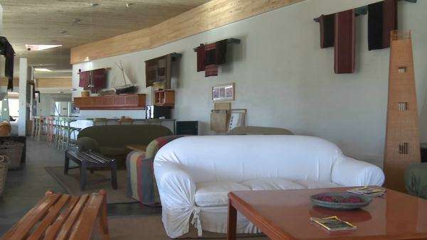 Interior view of the Explora Hotel in San Pedro de Atacama Chile. Royalty-free stock video