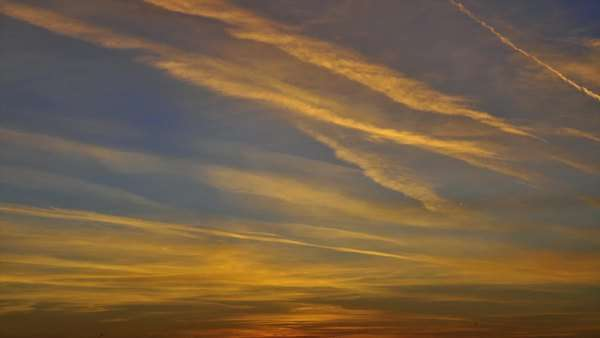Timelapse of clouds during a colorful sunset. Royalty-free stock video