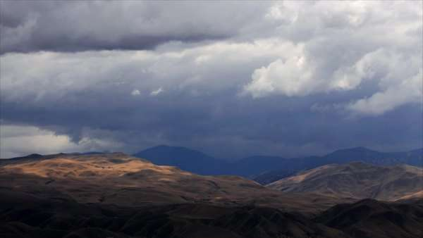 Timelapse of rainclouds over mountains. Royalty-free stock video