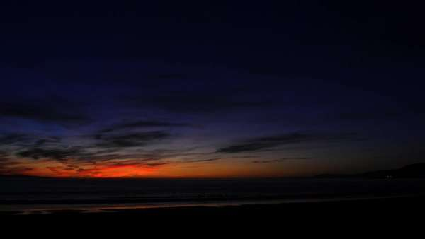 Timelapse of a colorful sunset over the ocean. Royalty-free stock video