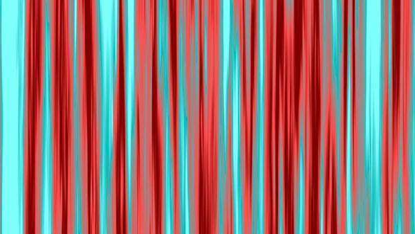 Looping animation of aqua and red vertical lines oscillating. Royalty-free stock video