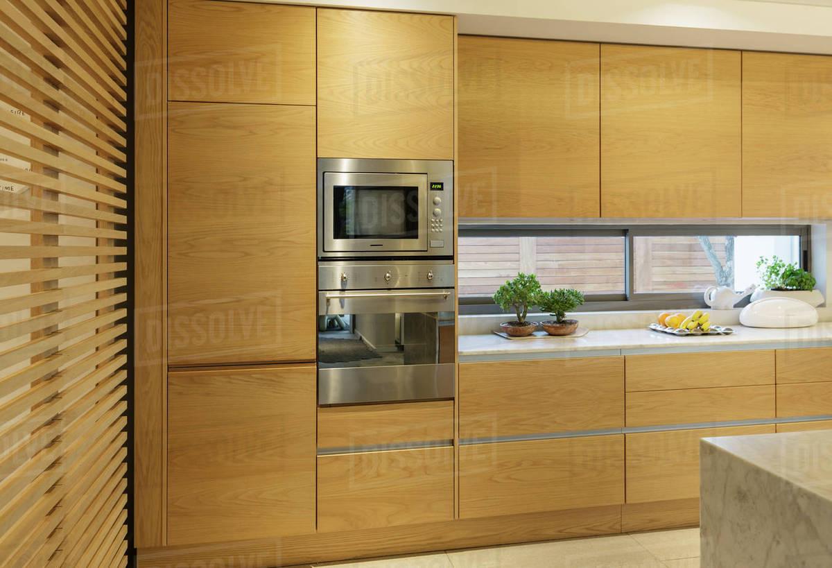 Wood Cupboard In Home Showcase Interior Kitchen
