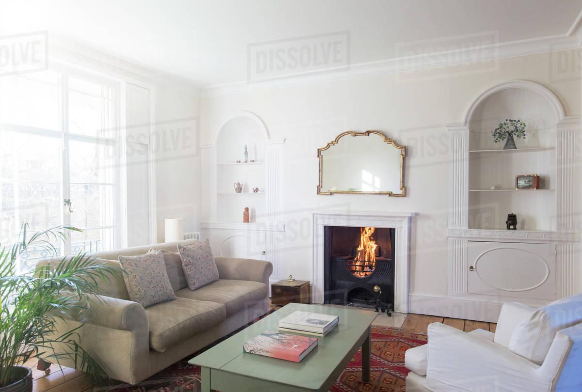 Elegant home showcase living room - Stock Photo - Dissolve