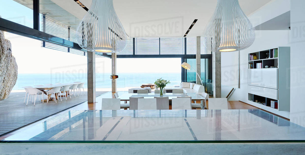 Modern Luxury Living Room.Modern Luxury Living Room Open To Patio With Ocean View D1007 4 303