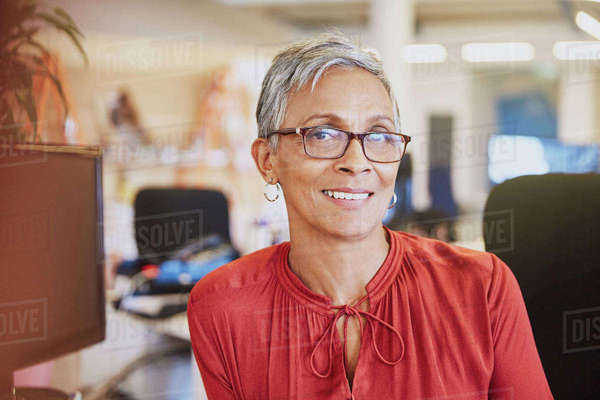 Portrait smiling businesswoman Royalty-free stock photo