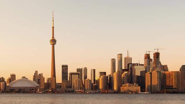 Timelapse  of Toronto, Canada - The Skyline from Day to Night Royalty-free stock video