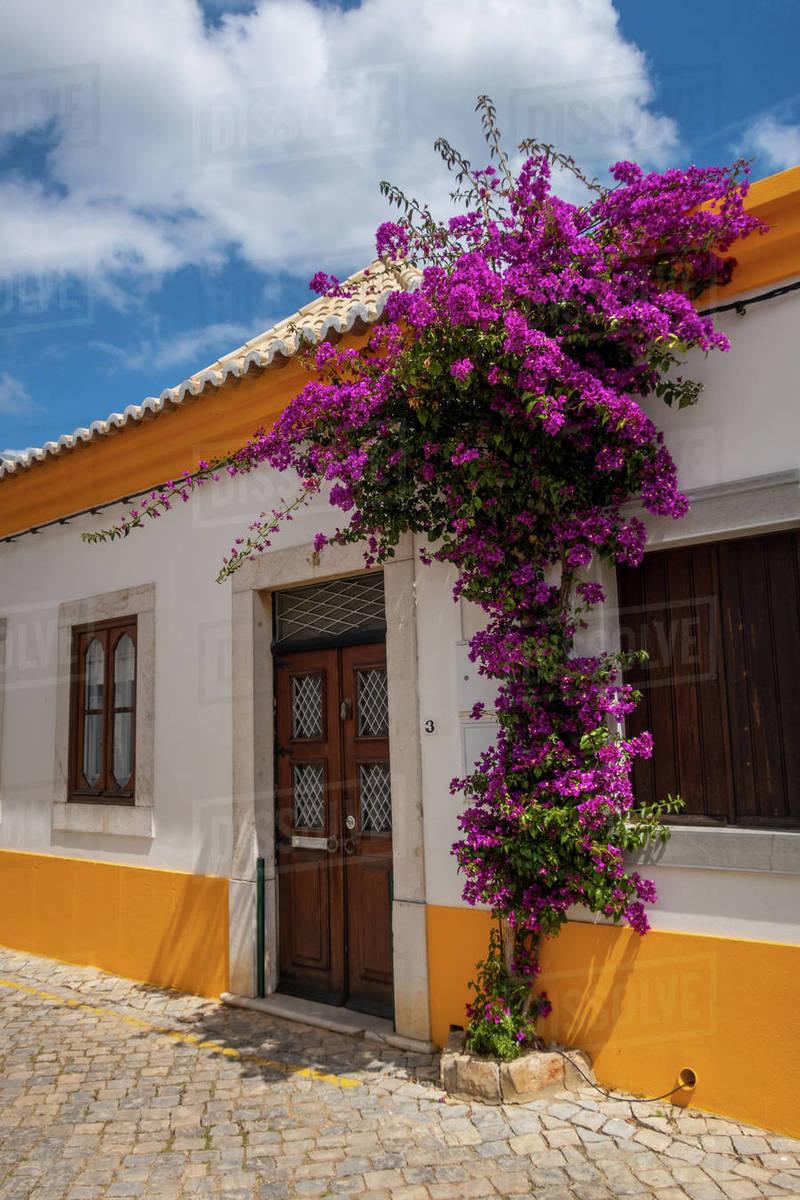 Picturesque street in Tavira, Algarve, Portugal Royalty-free stock photo