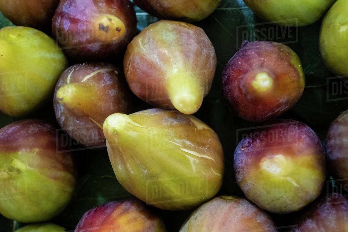 Ripe figs on market stall in Tavira market, Algarve, Portugal Royalty-free stock photo