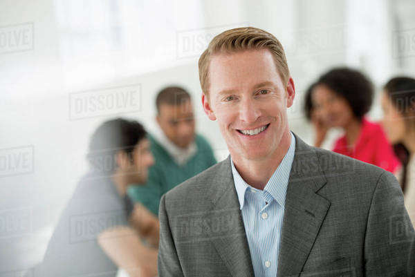 Business Meeting. A Man Smiling Confidently. Royalty-free stock photo
