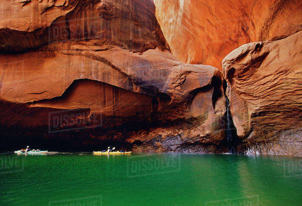 Kayakers in Escalante River Canyon, Grand Staircase-Escalante National Monument, Utah Rights-managed stock photo